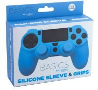 PS4 Silicone Skin + Grips (Blue) Englisch