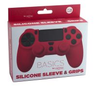 PS4 Silicone Skin + Grips (Red) Englisch