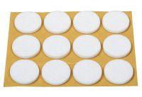 Filzgleiter 22 mm Filz weiß selbstklebend