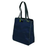 Meori Faltbare Einkaufst. L Marine Blue Solid- 2 Schulterhenkel - Große Reißverschlusstasche - Hochw
