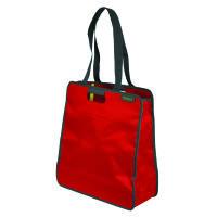 Meori Faltbare Einkaufst. L Hibiscus Red Solid - 2 Schulterhenkel - Große Reißverschlusstasche - Hoc