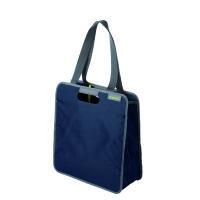 Meori Faltbare Einkaufstasche M Marine Blau 2 Schulterhenkel - Große Reißverschlusstasche - Hochwert