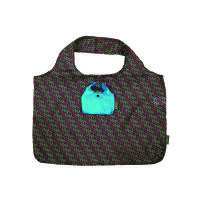 Meori Falttasche Shopping Midnight Blue Print - breite Schultergriffe - großes Fassungsvermögen - in