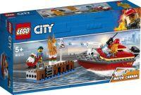 LEGO®, 60213, Feuerwehr am Hafen, LEGO® City, 6,1x26,2x14,1 cm, 97 Teile, 60213