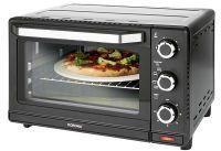 KORONA 57156 Toastofen mit Pizzastein Kapazität: 24l 1500 Watt schwarz/edelstahl (57156)