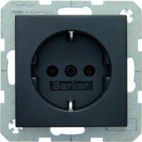 Berker SCHUKO-Steckdose B.1/B.3/B.7 - anthrazit/ matt