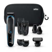 Braun Multigrooming-SetMGK3980 – 9-in-1 Präzisionstrimmer für Bart-und Haarstyling.MitNeopren Ku