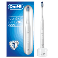 Oral-B Pulsonic Slim One 2000 Elektrische Schallzahnbürste für weißere Zähne in 2 Wochen, mit Timer