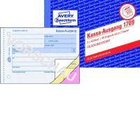 Avery Zweckform, Kassa-Ausgangsbuch, A6, weiß, gelb, ros, 3x40 Blatt, 1709