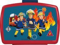 P:OS Brotdose Feuerwehrmann Sam mit Einsatz Melamin 17x13,5x6,5cm (26361088)