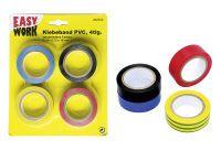 Multipack EASY WORK EW Isolierklebebänder 4 Rollen () - 12 Stück