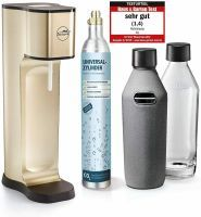 mySodapop Wassersprudler Joy Prestige mit 2 Glasflaschen, CO2 Zylinder