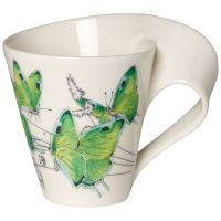 Villeroy & Boch NewWave Caffè Deep green hairstreak Becher mit Henkel (Geschenkkarton)