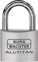 BURG-WÄCHTER Zylindervorhangschloss 770/40 Schlosskörperbreite 40 mm Alu verschiedenschließend
