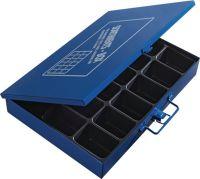Sortimentskasten B330xT240xH50mm 18 Fächer o.Beschriftungsschild blau