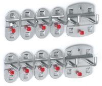 Werkzeughaltersortiment 10-tlg. kunststoffbeschichtet für Lochplatten 7 Haken/2 Doppelhaken/1 Werkz