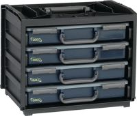 RAACO Sortimentskastentresor B376xT310xH265mm 4 Fächer mit Sortimentskästen Polypropylen