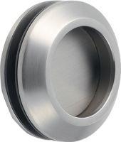 KWS Muschelgriff 5250 Edelstahl poliert Türstärke 8-10 mm passend für Glastüren Einlass-Ø 50 mm