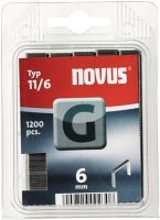 NOVUS Flachdrahtklammer G Typ 11 B10,6xL6mm Drahtbreite 1,25 mm
