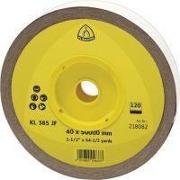 KLINGSPOR Schleifgeweberolle KL 385 JF 50 mm Körnung 240 für Metall Korund