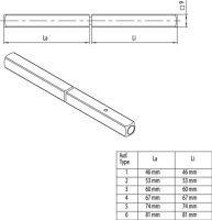 Panik-Stift OGRO 120 FS SECURE Vierkant 9 mm TS 107-113 mm geteilter Vollstift