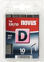 NOVUS Flachdrahtklammer D Typ 53 F Klammerbreite 11,3 mm 10 mm 1,25 mm