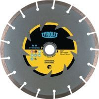 TYROLIT Diamanttrennscheibe DCU Standard D. 180 mm Bohrung 22,23 mm Bau universal 7 mm