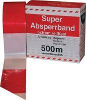 Absperrband Länge 500 m Breite 80 mm rot/weiß geblockt