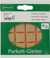 Parkettgleiter Premium 20 x 20 mm Filz natur eckig selbstklebend