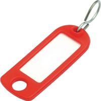 Schlüsselanhänger mit S-Haken rot Kunststoff mit S-Haken
