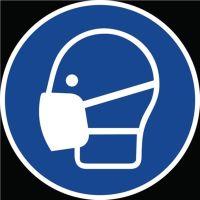 Gebotszeichen ASR A1.3/DIN EN ISO 7010 Maske benutzen Folie