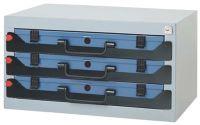 DINZL Sortimentskastentresor B555xT290xH350mm 3 Fächer ohne Sortimentskästen Stahlblech