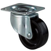 Lenkrolle Rad-D. 30 mm Tragfähigkeit 20 kg mit Anschraubplatte Kunststoff schwarz