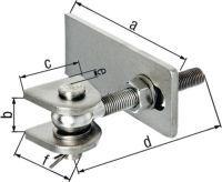 GAH Torband 75x19x44x120x25x45mm Stahl roh