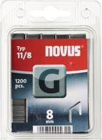 NOVUS Flachdrahtklammer G Typ 11 B10,6xL8mm Drahtbreite 1,25 mm