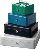 BURG-WÄCHTER Geldkassette Höhe 90 mm Breite 200 mm Tiefe 160 mm blau Stahl