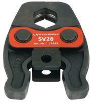 ROTHENBERGER Pressbacke Compact V/SV 19 kN Nennweite 28 mm Metall / NE-Metall passend zu ROMAX Compa