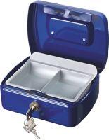 BURG-WÄCHTER Geldkassette Office 2167 B.173xH.73xT.130 mm blau Stahl inkl. Zylinderschloss