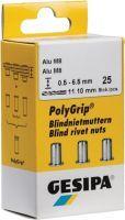 GESIPA Blindnietmutter PolyGrip® Nietschaft d x l 11 x 20 mm M8 Alu 25 Stück