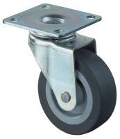 Lenkrolle Rad-D. 25 mm Tragfähigkeit 15 kg mit Anschraubplatte Gummi grau