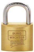 BURG-WÄCHTER Zylindervorhangschloss 116 50 Z5 GL Schlosskörperbreite 50 mm Messing gleichschließend