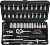 NOW Steckschlüsselsatz 45-teilig  1/4 Zoll Schlüsselweiten 4-14 mm Anzahl Zähne 72 6-Kant