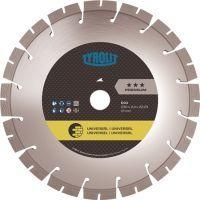 TYROLIT Diamanttrennscheibe DCU Premium D. 180 mm Bohrung 22,23 mm Bau universal 12 mm