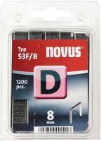 NOVUS Flachdrahtklammer D Typ 53 F Klammerbreite 11,3 mm 8 mm 1,25 mm