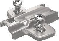 HETTICH Montageplatte Sensys Stahl vernickelt 3 mm vormontierte Euroschrauben