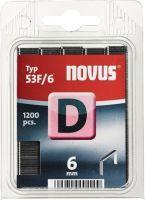 NOVUS Flachdrahtklammer D Typ 53 F Klammerbreite 11,3 mm 6 mm 1,25 mm