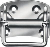 Multipack VORMANN Kistengriff Höhe80 mm Breite100 mm Stahl blau verzinkt Anzahl Löcher 4 10 Stück