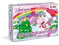 Craze, Einhorn Adventkalender mit 24 Überraschungen, 32x41x4cm, 24706