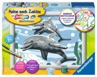 """Ravensburger Malen nach Zahlen Malen nach Zahlen Kinder """"Freundliche Delfine"""" ab 7 Jahre von Ravensburger"""