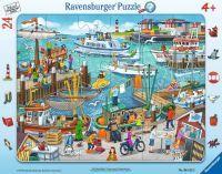 """Ravensburger Kinderpuzzle """"Ein Tag am Hafen"""" 24 Teile ab 4 Jahre Puzzle von Ravensburger"""